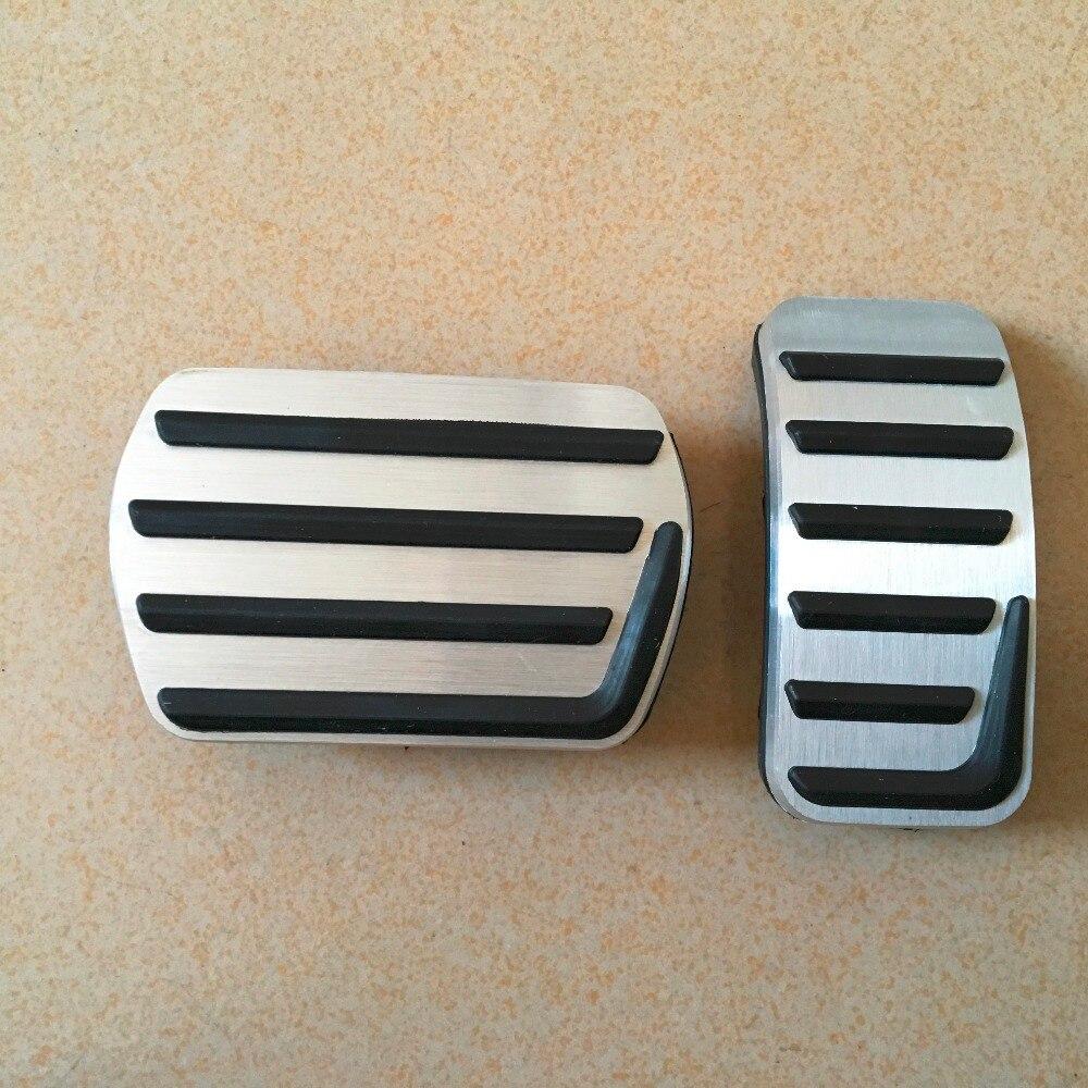 DEE Aluminium Acessórios Do Carro Para VOLVO S40 V40 C30 AT AUTO Acelerador Freio Pedal Adesivos, gás Combustível Esporte Capa Pads