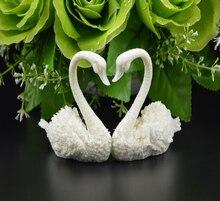3D のペア白鳥シリコーン金型製作フォンダンチョコレートケーキ装飾ツール手作りシリカ石鹸フォーム