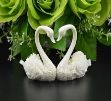 Par de moldes de silicona Cisne 3D para hacer Fondant, herramientas de decoración de pastel de Chocolate, forma de jabón de sílice hecho a mano