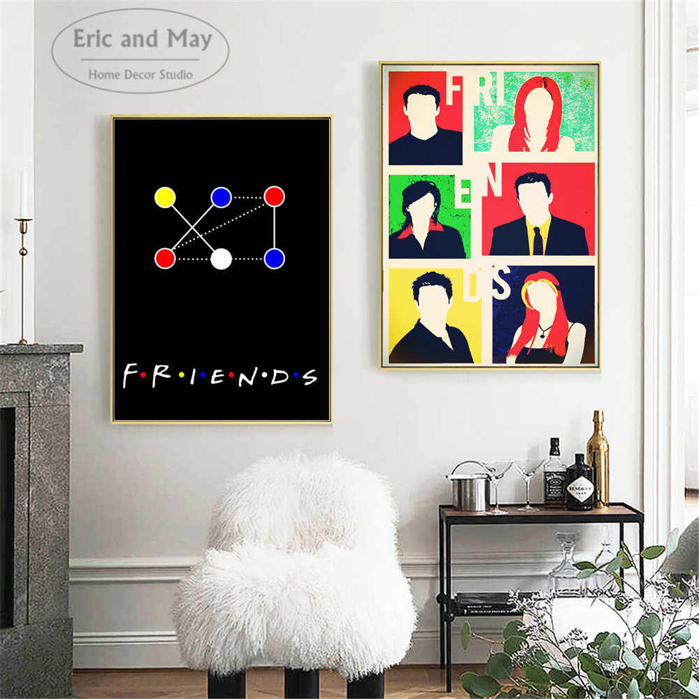 Friends TV Show Pop Art Canvas Art Print Painting Modern Wall Picture Home Decor Bedroom Decorative Posters No Frame Cuadros