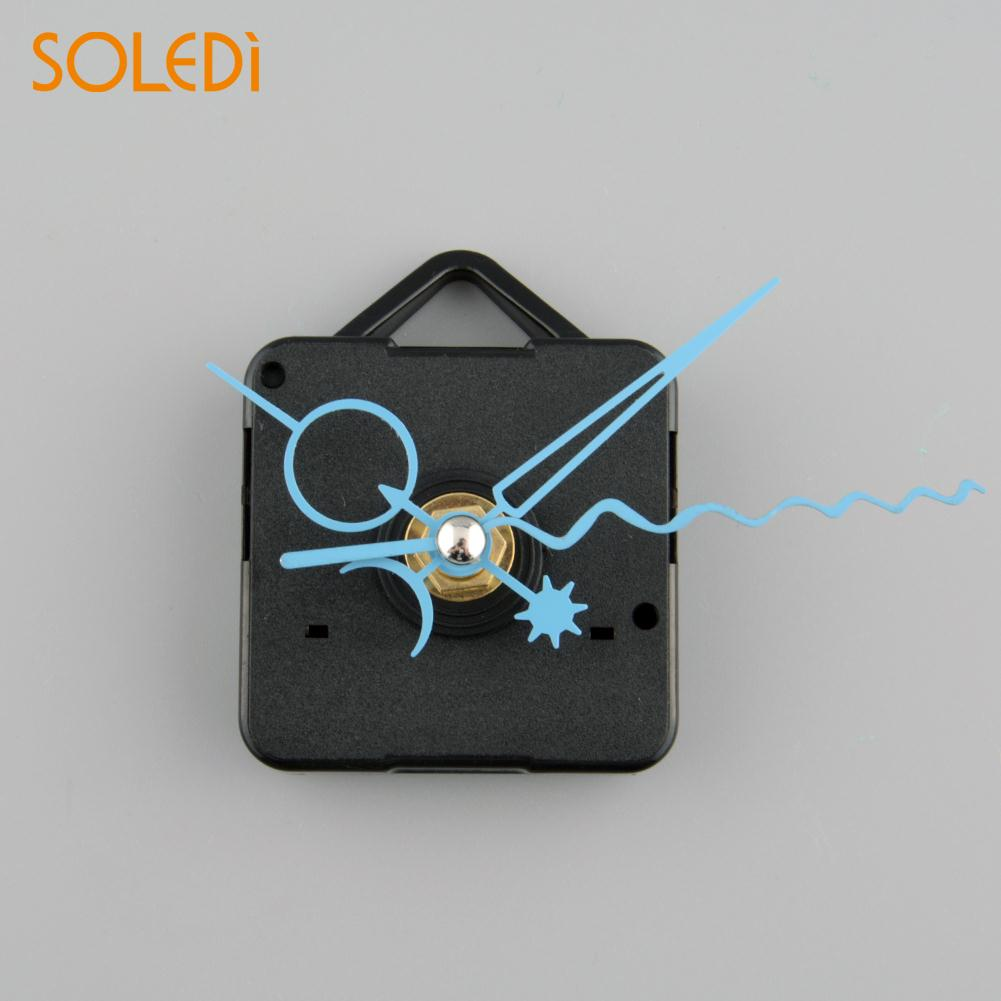 SOLEDI Silent Clock Quartz Movement Mechanism Blue Hand Replacement Part New Clock Mechanism Drop Shipping