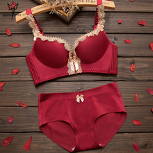 Push Up Women Bra Sets Sexy Underwear Sets Intimate Bra and Panty Sets Satin Bra Sets Sexy Lingerie 2017 Underwired Bra