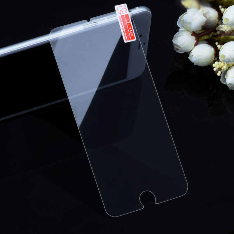 """9H tempered glass screen protector For iphone Xs Max XR 10 8 X 4 4s 5 5s 5c SE 6 6s plus 7 6.1"""" 6.5"""" 2018 film case Cover Bag"""