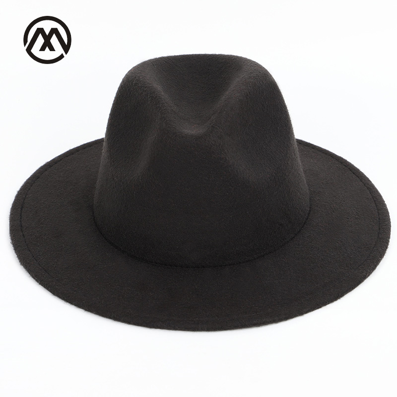 online store official images coupon code US $7.34 50% OFF|Men's hats solid color fashion big hats along the classic  hat large size 60CM men and women universal adjustable fedora man jazz-in  ...