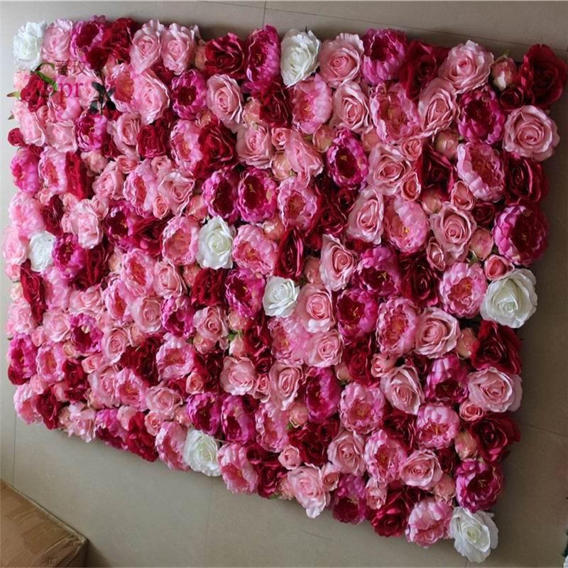 SPR livraison gratuite 10 pcs/lot artificielle soie pivoine rose fleur mur mariage fond pelouse/pilier fleur marché décoration