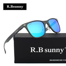 R.Bsunny Brand Unisex Aluminum fashion Men's Polarized Mirror Sun Glasses Female Eyewears Accessories Sunglasses For Men R7043