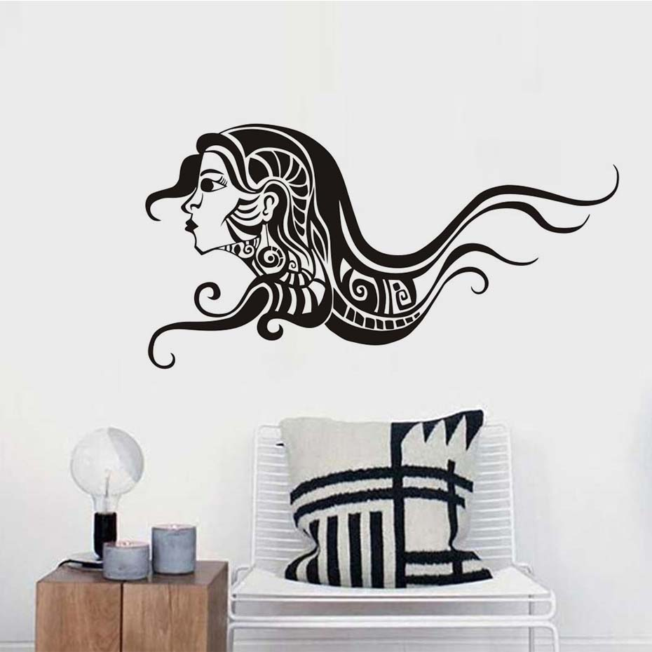 Fashion sex woman with long hair spa beauty salon wall stickers fashion sex woman with long hair spa beauty salon wall stickers vinyl barbershop decals beauty girls home decoration wall mural in wall stickers from home amipublicfo Gallery