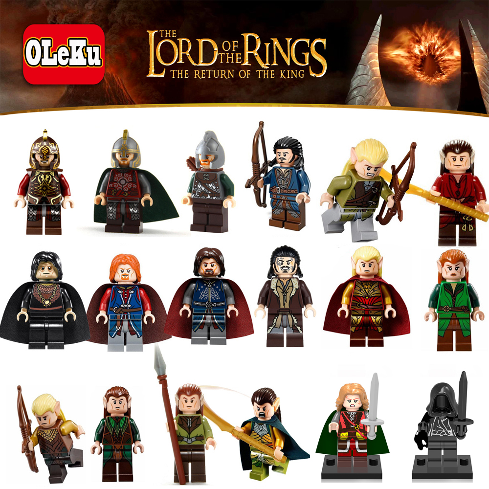 Oleku bricks Lord Of The Rings Wraith Rider Bowman Mordor Gandalf Boromir Models Building Blocks Figures Toys Hobbit Hot Sale building blocks horse lord of the rings the hobbit super heroes star wars set model bricks kids diy toys hobbies figures