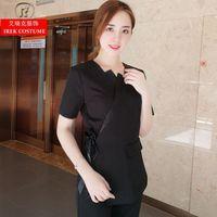 2018 Korean Style Spa Health Club Beauty Salon Medical Uniform New staff work Wear s top+pants