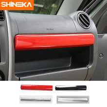 SHINEKA ABS Glove Box Cover Trim Storage Box Decoration Sticker Interior For Suzuki Jimny 2007-2015 Car Accessories стоимость