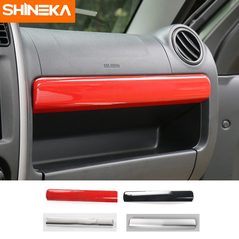 SHINEKA ABS Glove Box Cover Trim font b Storage b font Box Decoration Sticker Interior For