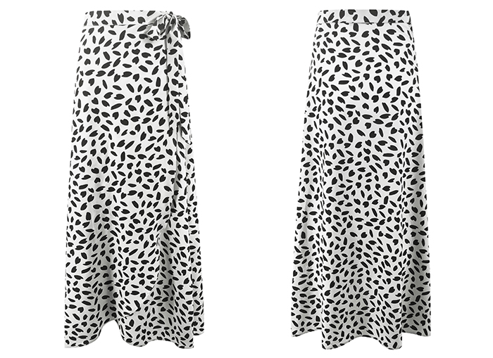 HTB1I.6URCzqK1RjSZFLq6An2XXaz - Surmiitro Polka Dot Print Long Maxi Summer Skirt Women Fashion Ladies White Black Split High Waist A-line Sun Skirt Female