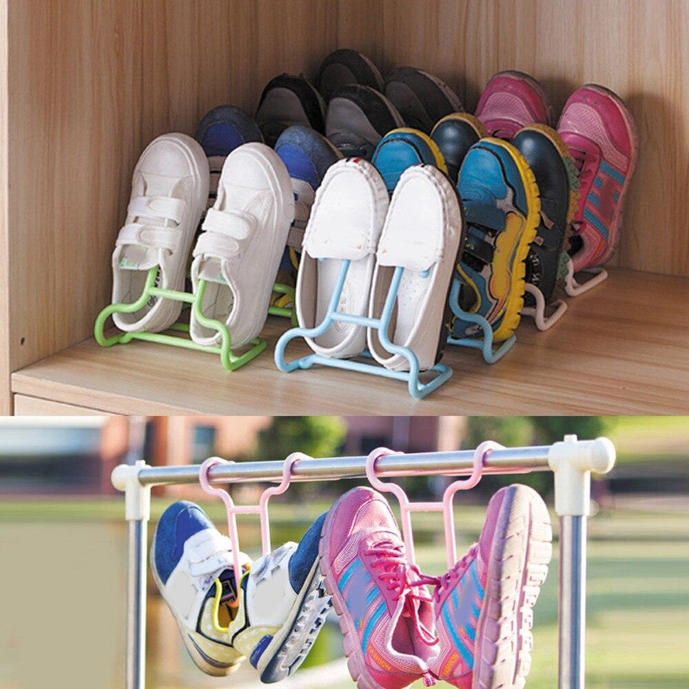 2 шт./компл. Multi-Функция Для детей Обувь висит хранения полка Сушилки обуви стойки вешалки Шкаф Организатор # L ...