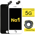 100% probado a + + + calidad lcd asamblea pantalla lcd de reemplazo de pantalla táctil digitalizador para iphone 5g 5s 5c + anillo de cámara