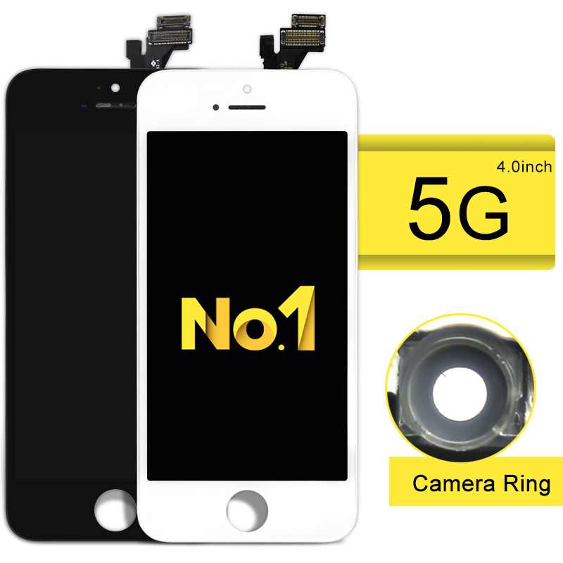 10pcs 100 Tested A Quality LCD Assembly Screen Replacement Touch Screen Digitizer For iPhone 5 lcd