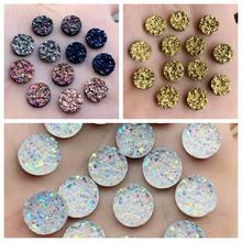 Accessoires, pierres précieuses et pierres précieuses, cristaux brillants de résine AB, 12mm, appliques, perles pour robe de mariée, 100 pièces-B28 * 2