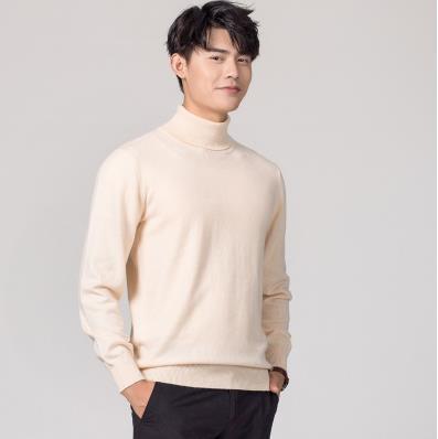 Кашемировая водолазка мужская, мужской свитер, одежда для осени и зимы, свитера цвета Омбре, пуловер для мужчин с высоким воротником - Цвет: Хаки