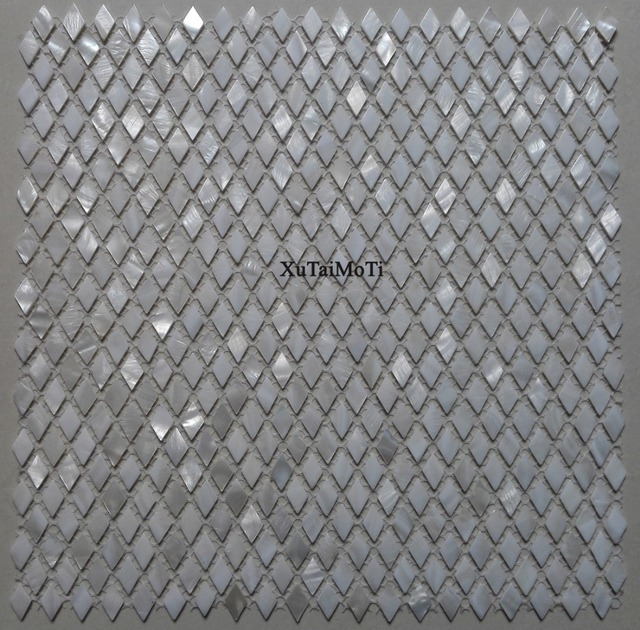 Aliexpress Com 11 Stucke Weiss Rhombus Shell Mosaik Fliesen