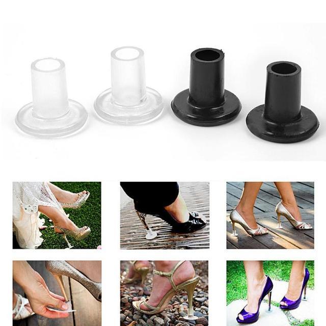 JOCESTYLE 2 cái Phụ Nữ Chống-trượt Mềm PVC Cao Gót Bảo Vệ Giày Gót Bìa Stopper cho Hiện Đại Latin Nhảy Múa đào tạo Đạo Cụ