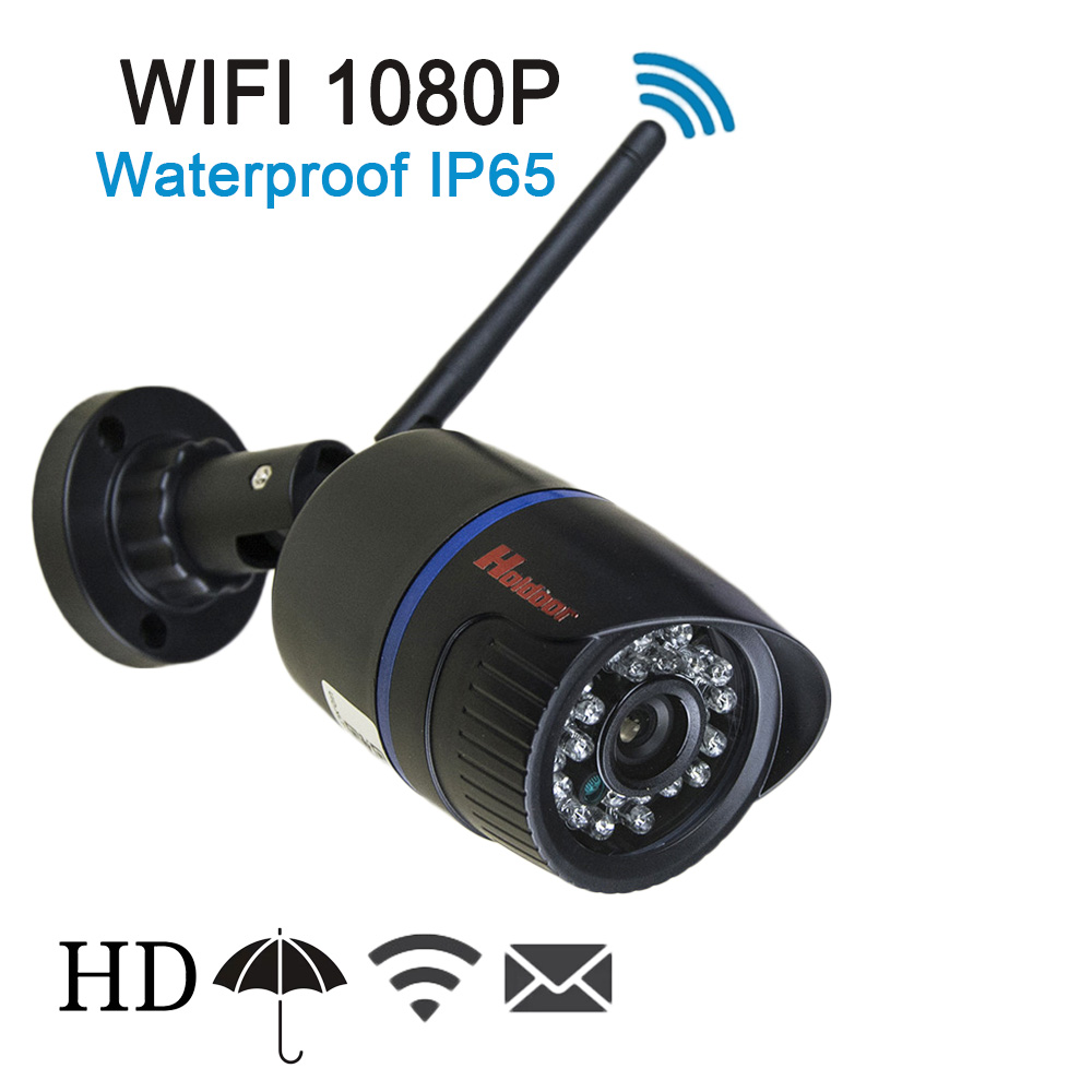 ФОТО 1080P HD IP Camera WIFI Onvif 2.0.4 P2P for Smartphone Waterproof IP65 Infrared IR Home Security Cam With Micro SD Card Slot