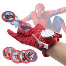 Spiderman Launcher Handschuhe Cosplay Kostüm Requisiten Superhero Batman Iron Man Handschuhe Halloween Kind Geburtstag Geschenk(China)