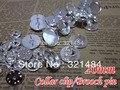 A granel 20mm la tapa del panel de plata chapado de metal clip de mariposa y pins volver adecuados para broches clips collar de plomo y níquel envío