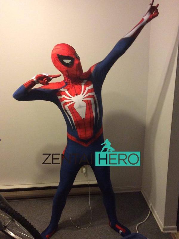 Pulsuz Göndərmə DHL NEW 3D PS4 Oyunu Spiderman Insomniac - Karnaval kostyumlar - Fotoqrafiya 6