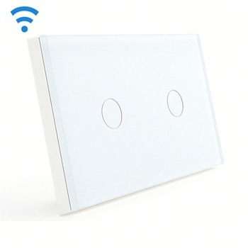 Bseed Wireless Touch Switch 2 Gang 1 Way Dimmer Switch With Remote Control White Touch Switch Dimming Led Us Au Eu Uk smart home eu touch switch wireless remote control wall touch switch 3 gang 1 way white crystal glass panel waterproof power