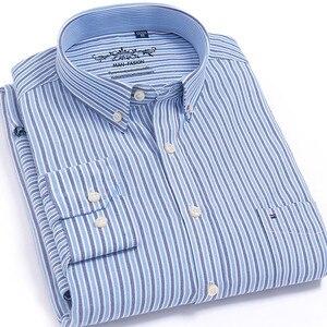Image 3 - Chemise à manches longues pour homme, de marque, en coton, tenue formelle, Slim, rayée, collection 2018, collection nouveauté