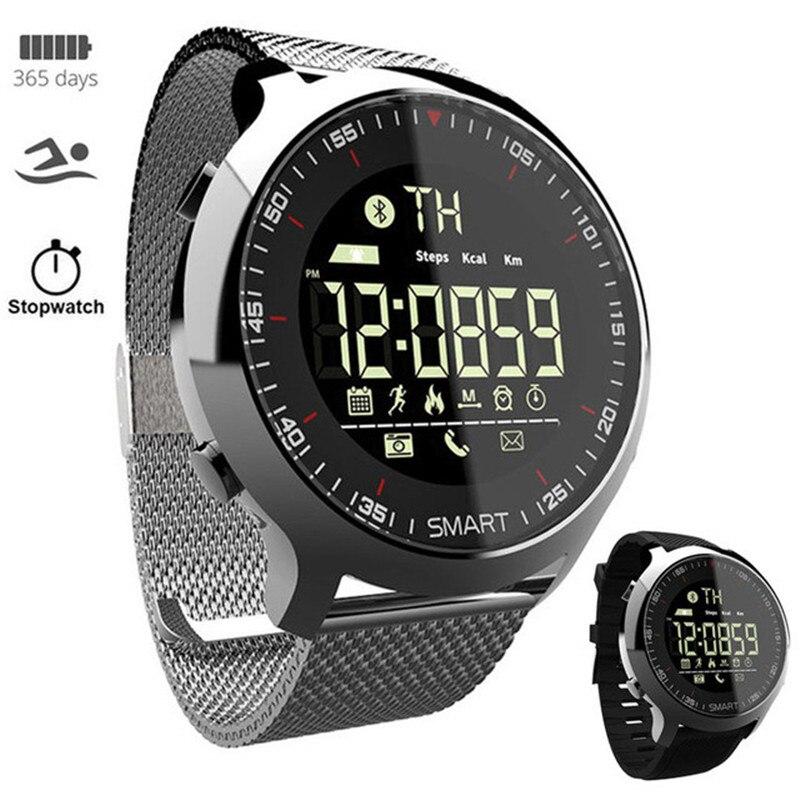 Neue Smart Uhr Sport Waterprooaf schrittzähler Nachricht Erinnerung Bluetooth außen männer smartwatch für ios Android-handy
