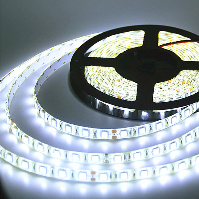 Super Bright  5m DC 24V IP65 Waterproof LED Strip 5050 flexible Light stripe 60 LED/MLed Tape Luces Ribbon WarmWhite White RGB