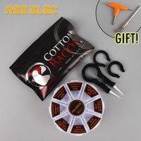 48Pcs Prebuild Coils Cotton Bacon Ceramics Tweezer Electronic Cigarette Accessories Kit For RDA RDTA Atomizer DIY
