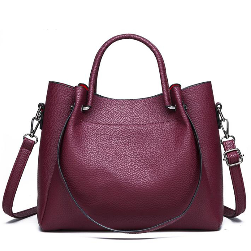 2019 handbags women shoulder crossbody bag female casual large totes high quality artificial leather ladies hobo messenger bag in Shoulder Bags from Luggage Bags