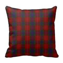 Stylish Clan Fraser font b Tartan b font Plaid Pillow Case Size 45x45cm Free Shipping
