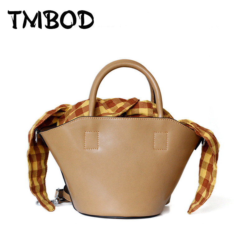 New 2018 Designer Classic Cute Tote Small Plaid Bucket Women Split Leather Handbags Ladies Bag Messenger Bags For Female an1296 new 2017 classic casual patchwork tote popular women canvas & split leather handbags ladies bag messenger bags for female an768