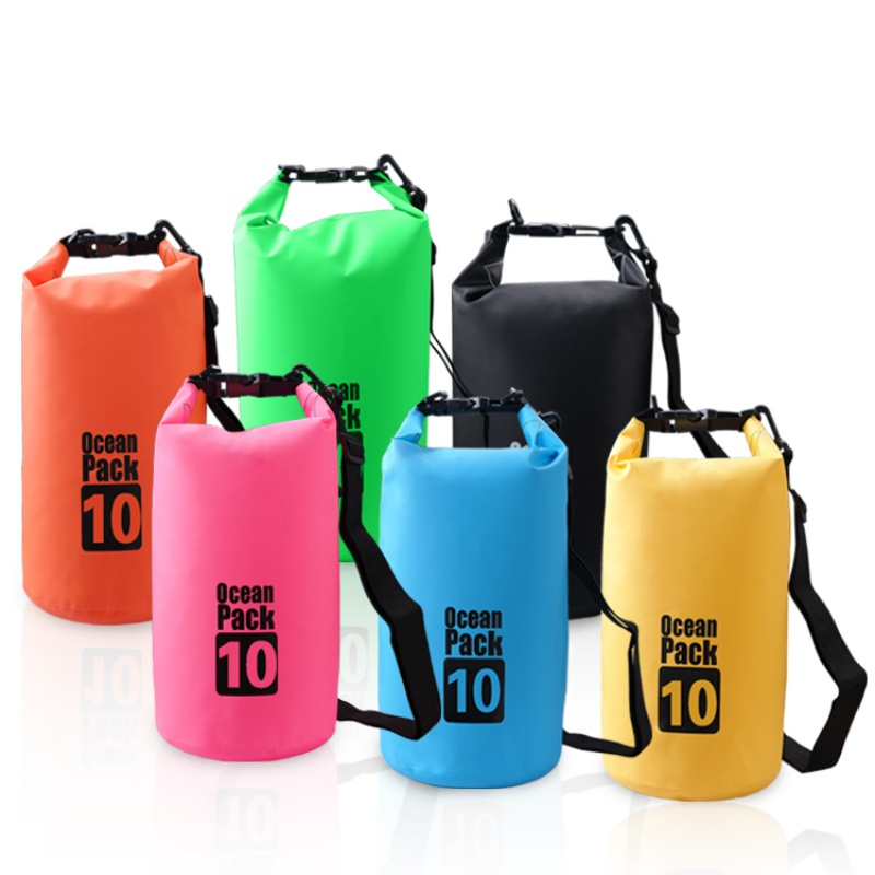 2L 3L 5L Waterproof Dry Bags Outdoor Beach PVC Buckled Floating Storage Sack Travel Boating Rafting Bags Accessories New