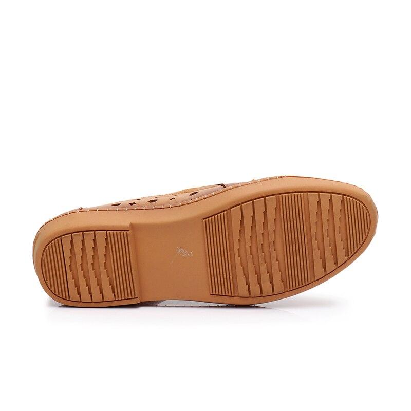 Sur Chaussures Out Casual gris Cuir Appartements Mère Dames Véritable En Gktinoo De D'été Cut Solide jaune Mocassins Noir Femme Femmes Glissement 5XqWHwn7p