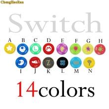 ChengHaoRan 14 pcs colors For Switch Joy Con Stick cap Grip Caps Pro Controller Joystick Cap Analog Button