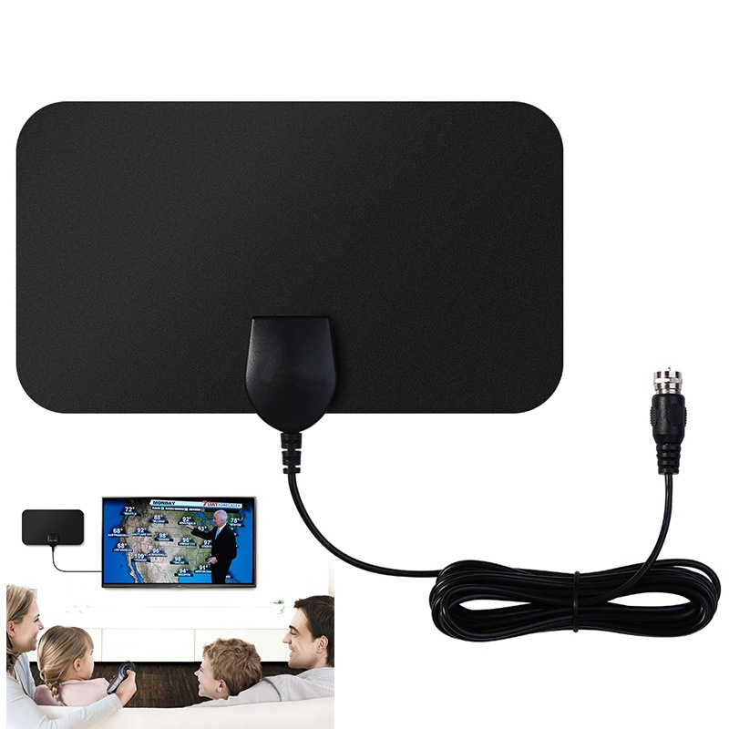 25 Miles 1080P Indoor Digital TV Antenna Signal Receiver Amplifier TV Radius Surf 10ft Cable Home High Performance TV Aerial