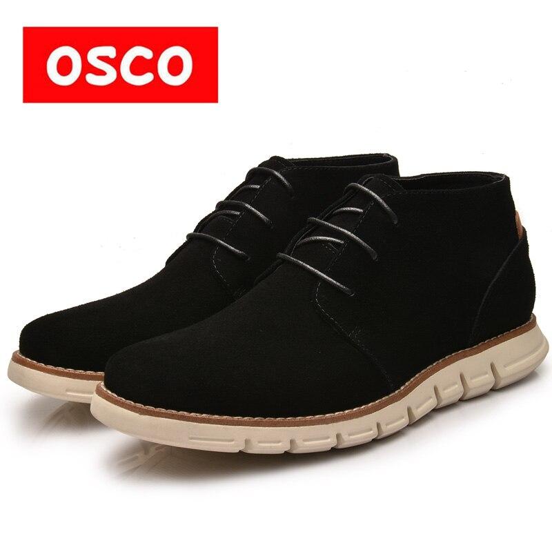 Оско завод прямой все сезон новые стили дизайн модные ботинки подошва корова замши удобные ботинки # MB00801W