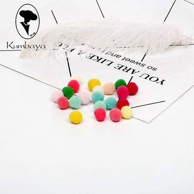 500pcs/pack 10mm Small Mixed Soft Cheerleading Pompoms Balls Fluffy Pom poms DIY Garment Handcraft