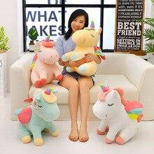 soft toys for children girls plush stuff animals anime horse unicorn