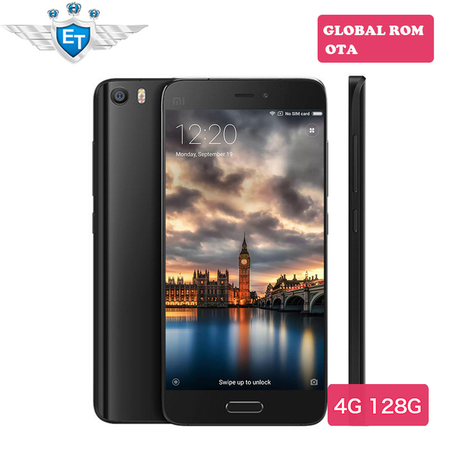 Оригинал Xiaomi Mi5 Pro 5.15 ''Snapdragon 820 Четырехъядерных Процессоров 4 Г FDD LTE Телефон 1920x1080 4 ГБ 128 ГБ 16MP камера Отпечатков Пальцев ID