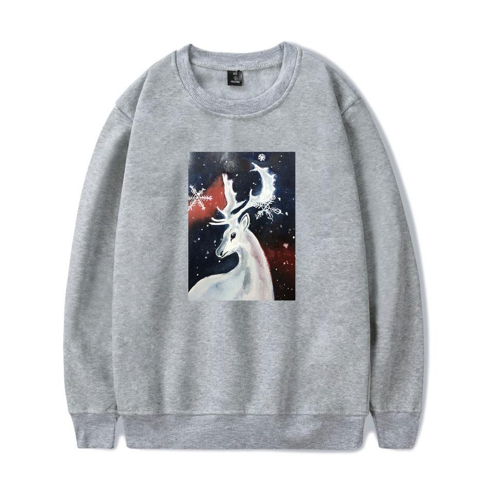 LUCKYFRIDAYF Kpop New Christmas print Warm ing Women Men Fashion Hoodies Sweatshirts Women Men Hoodies clothes Plus 4XL in Hoodies amp Sweatshirts from Women 39 s Clothing