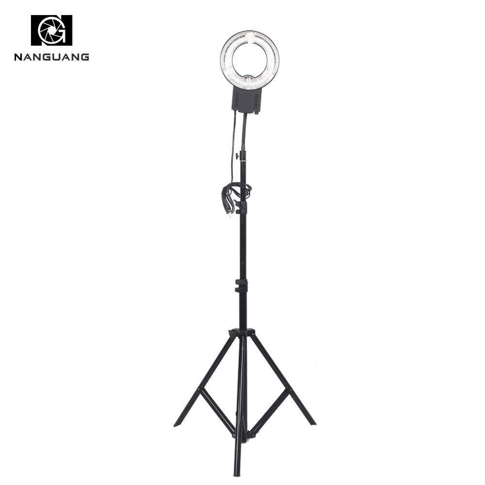 22 W 5600 K anneau lampe lumière + 200 CM support pour petits objets tir Portrait maquillage éclairage