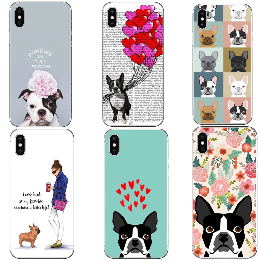 36bf7c55bff Phone Case Boston Terrier florals Hard PC Cover for iPhone 5 5S SE 6 6s Plus