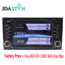 Wholesale!!! 2 Din Wince Car DVD Player for AUDI A4 2002-2008 GPS Navigation Radio Audio Bluetooth RDS Ipod Free Map CANBUS SWC