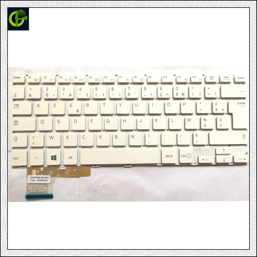 French Azerty Keyboard for <font><b>Samsung</b></font> NP 905S3 <font><b>905S3G</b></font> NP905S3G NP910S3G NP915S3G WHITE FR image