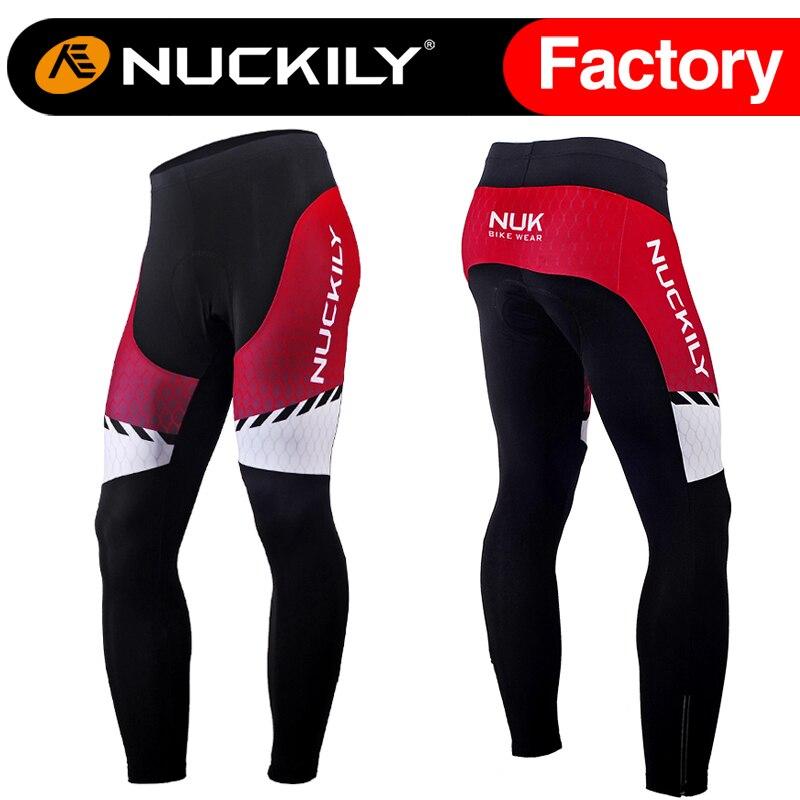 ФОТО Nuckily Winter  Men's mountain bikes red winter warm cycling fleece paints  MF014