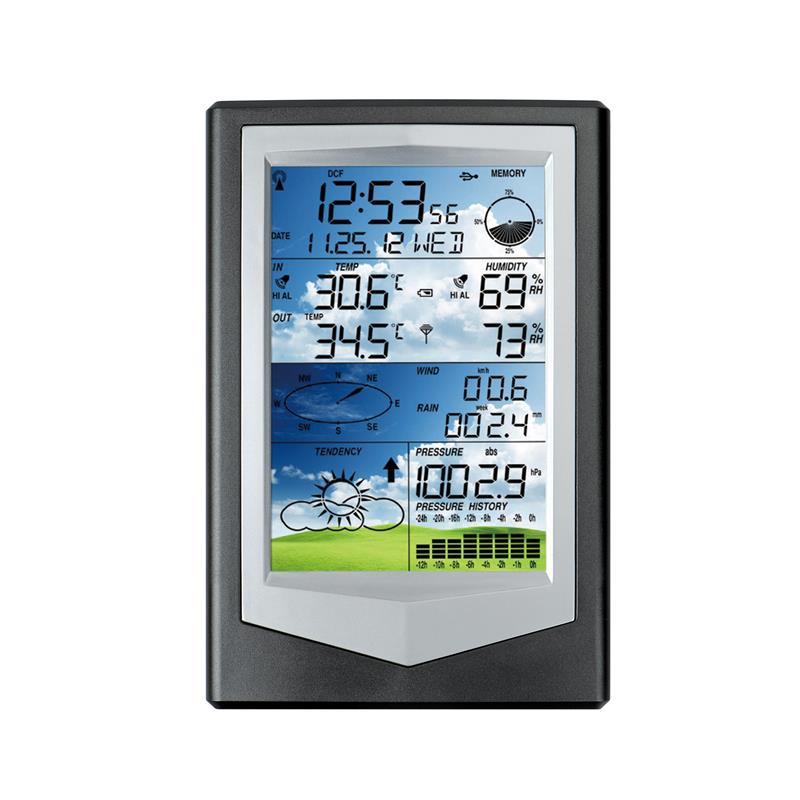 Stations météo sans fil intérieur extérieur avec pluviomètre, couleur station météorologique avec logiciel PC connexion